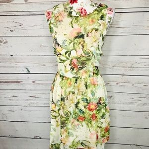 Boho vintage vibe Pinky XL Floral sleeveless dress